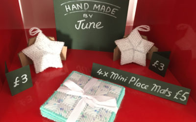 June sells her creations in our micro shop