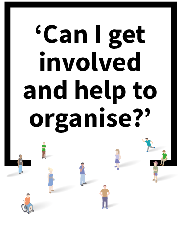Can I get involved to help organise?